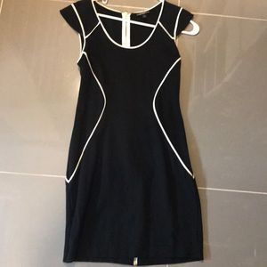 Black dress with white detailing